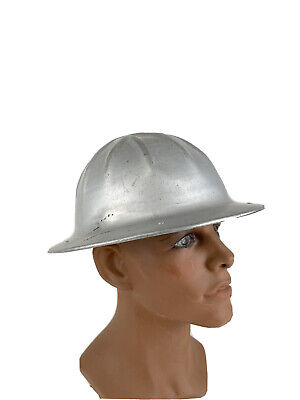 Vintage Original B. F. Mcdonald Co. Aluminum Roughneck Hard Hat Los Angeles Ca