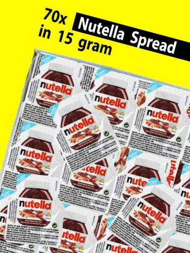 FREE SHIPPING 70x 15g Nutella hazelnut chocolate Spread in portion packs