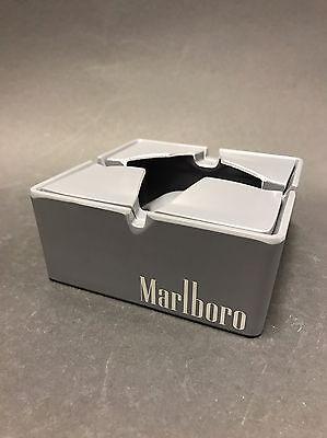 MARLBORO Aschenbecher Kunststoff/ Metall Grau 2teilig NEU OVP Zigaretten Ashtray