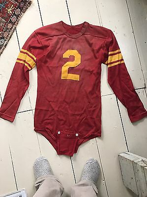 Antique Vintage Football Uniform W Elbow Pads Rawlings Size 38 Jersey