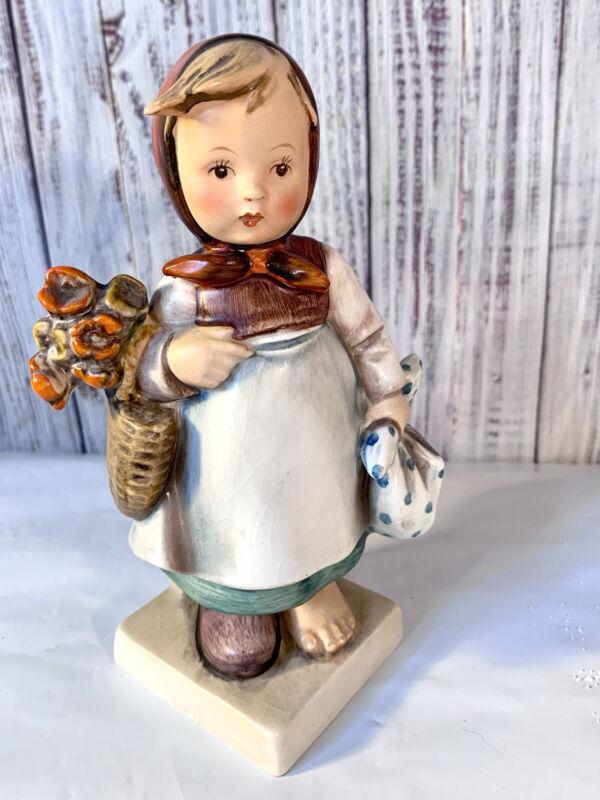 """Goebel Hummel #204 """"Weary Wanderer"""" (Girl with Flowers, One Shoe) 5.75"""" Tall"""