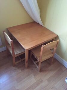 Kids solid pine table and chairs