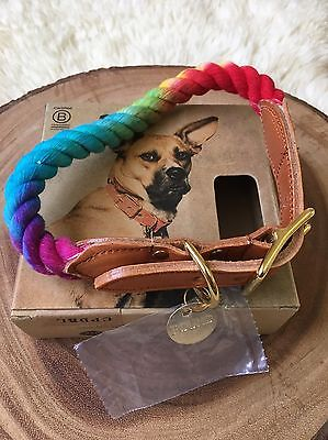 Found My Animal Rainbow Prismatic ROPE CAT & DOG COLLAR Large New In Box *