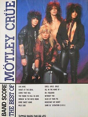 MOTLEY CRUE The Best Of / Japan Band Score TAB /Excellent (The Best Of Motley Crue)