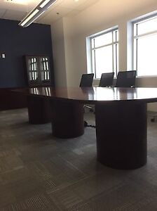 Boardroom Table and Display Case - URGENT
