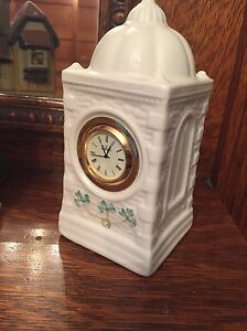 Belleek Fine Irish China Clock. 20.00