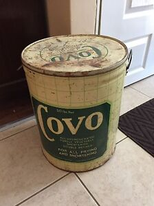 Vintage Covo Company tin,  ( A division of Lever Bros )