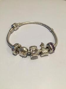 Pandora bracelet with Michael Hill charms Mount Nelson Hobart City Preview