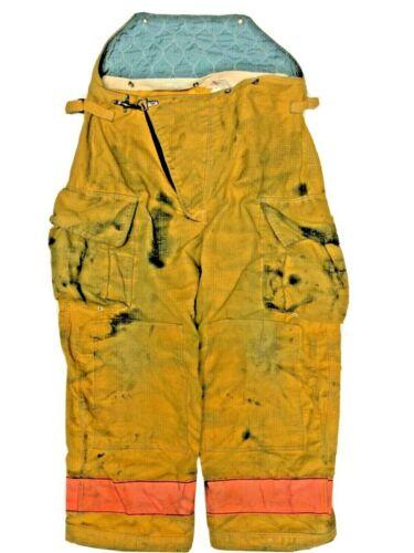 42x28 Globe Yellow Orange Firefighter High Back Turnout Pants  No Liner PNL-18