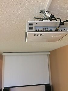 High end projector + screen