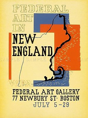 VINTAGE ADVERT GALLERY FEDERAL NEW ENGLAND ART POSTER PRINT (Federal Art Gallery)