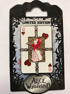 Disney DSF Alice in Wonderland Opening Day The Red Queen Playing Card LE Pin (The Queen In Alice In Wonderland)