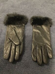 LEATHER GLOBES WITH REAL FUR TEIM/GANTS CUIR FEMME
