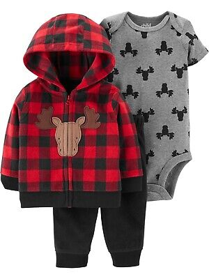 Child of Mine by Carter's Boy Hoodie Jacket, Bodysuit & Jogger Pants, 6-9 Months