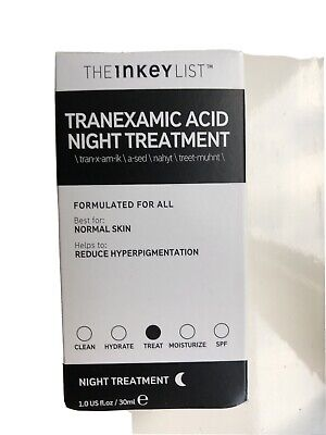 Bnib The Inkey List Tranexamic Acid Night Treatment 30ml Rrp £14.99