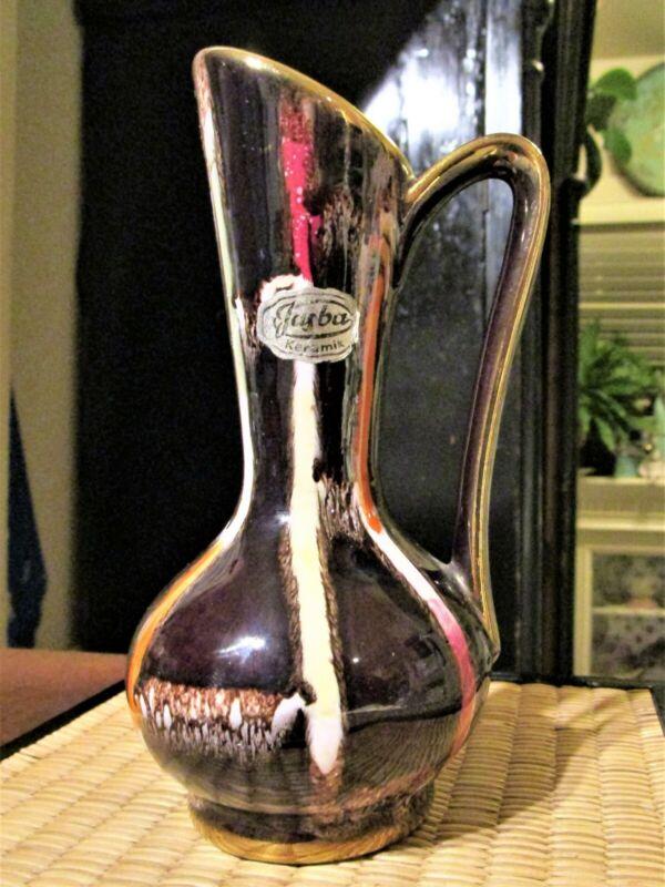 Vintage MCM Jasba Keramik Pitcher Vase Germany