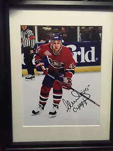 Montreal Canadians Gilbert Dionne signed 8x10 pics