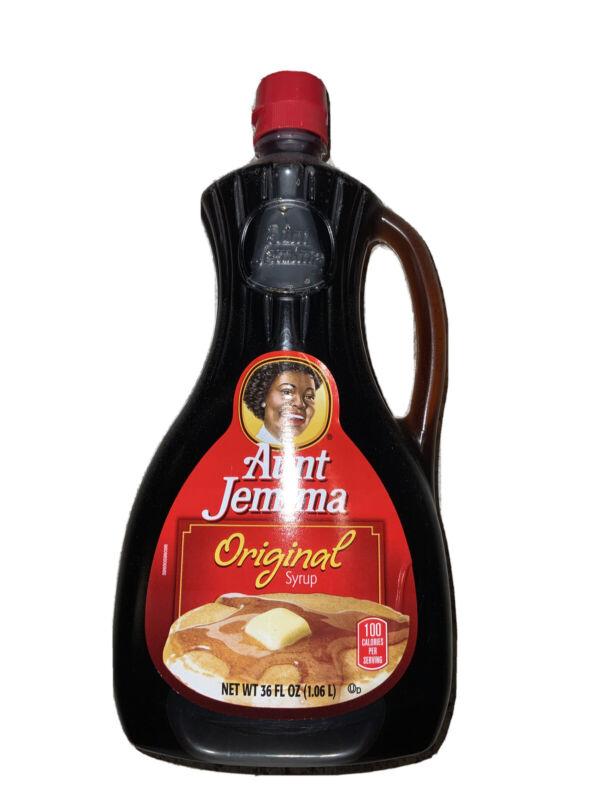 A. J. Syrup Original Flavor Bottle Retired Collectible RARE GIFT IDEA VHTF 36 OZ