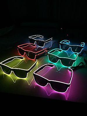 75 Pairs Of Cool Flashing Neon Light Sunglasses (Fancy Dress) Bulk Order Job Lot