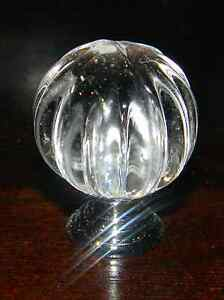 NEW 10 Pumpkin Shape Glass Knobs for Drawer,Dresser(with screws London Ontario image 1