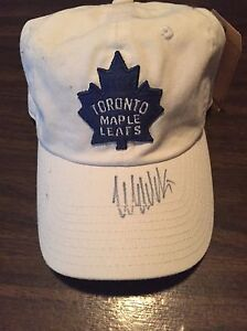 Signed Maple Leafs hat