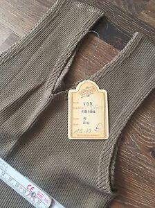 DDR Kleid OVP mit Etikett NEU Wistri 46 Strickkleid Braun Lang Vintage GDR 60er