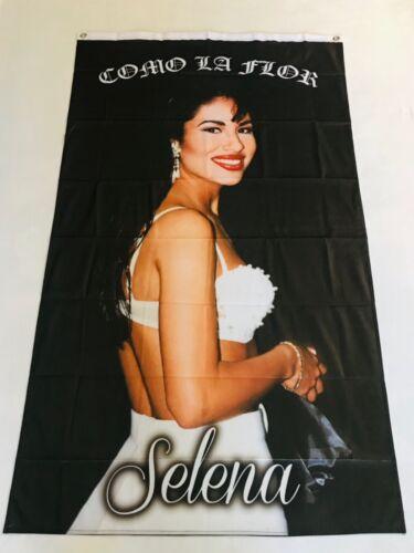 Selena 3ftx5ft flag banner como la flor latina chicana music limited edition art
