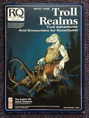 Into The Troll Realms Runequest Glorantha Avalon Hill Chaosium - $49.95