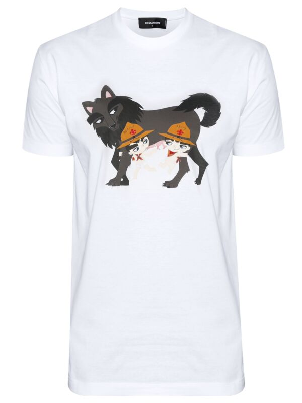 dsquared2 mens/_white dsquared2/_polo dsquared2 t-shirt/_made in Italy