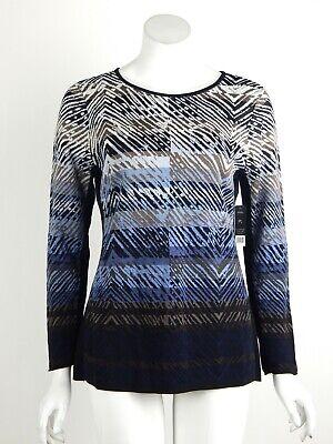 Multi Print Sweater - Nic+Zoe Petite Coastline Top Sweater Round Neck Multi Print Petite Large PL New