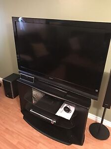 "52"" Sony Bravia LED TV with subwoofer,speakers and stand"