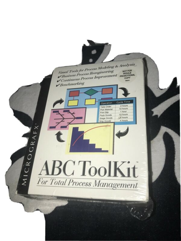 Vintage 90s Micrografx ABC tool Kit Software Sealed Promotional Edition
