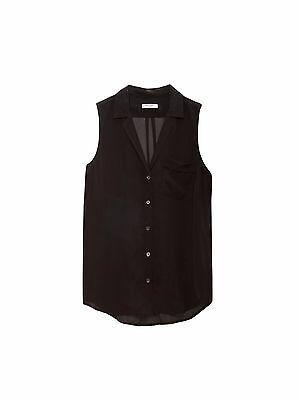NWT Equipment Sleeveless Keira Silk Shirt Black Size XS, S $188