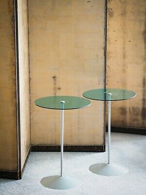 Lovely pair of 1980s Post Modernist side tables Memphis style MCM design