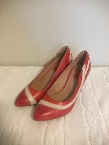 Miz Mooz red leather heels size 6.5