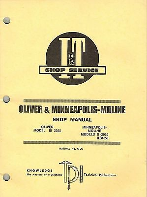 Oliver Minn. Moline 2255 G955 G1355 Tractor It Shop Manual O-26