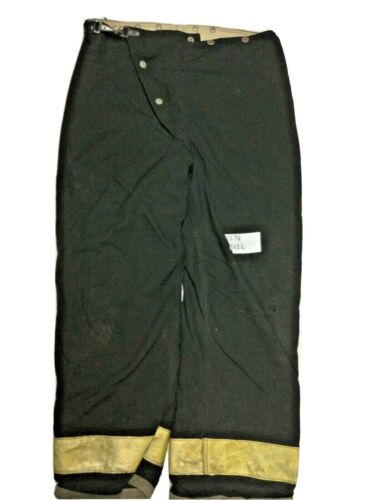 36x32 Globe Black Firefighter Turnout Pants with Yellow Reflective Tape P1276