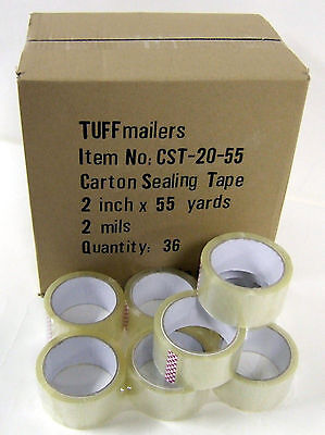144 rolls Carton Sealing Clear Packing/Shipping/Box Tape- 2 Mil- 2