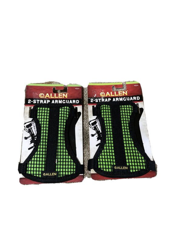 2 Pack Allen Archery 42014 Bow Hunting Mesh 2 Strap Arm Guard Green/Black