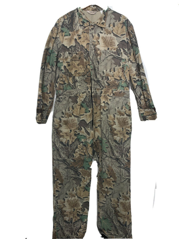 Vintage WALLS Advantage Camo Coveralls Hunting Size XL 46-48 Made in USA
