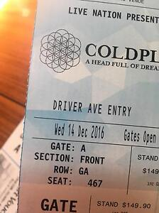 LOST COLDPLAY TICKET Greenwich Lane Cove Area Preview