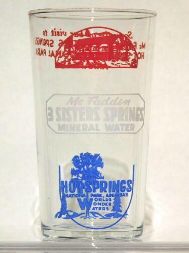 Vintage Hot Springs Arkansas Souvenir Glass from McFadden
