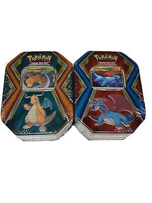 Pokemon Tins. Lot Of 2: Salamence, Dragonite FACTORY SEALED! EVO!