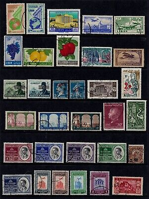 Middle East Postage Stamps Used Selection inc Jordan Clean Colourful Lot (32v)