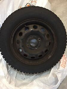 WINTER TIRE ON RIMS FOR SALE - 185/65R14 Cambridge Kitchener Area image 4
