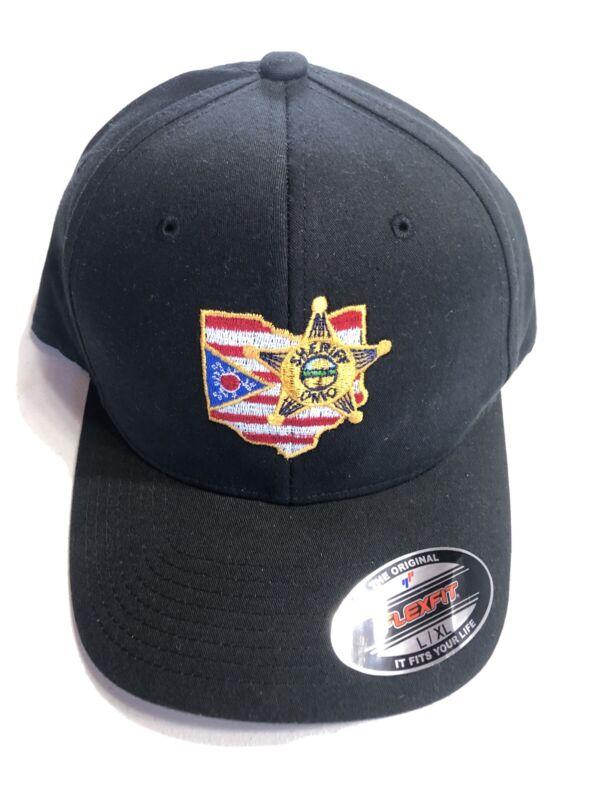 Ohio SHERIFF Deputy Baseball Cap Hat Flag Star Badge Emblem Embroidered Flex Fit