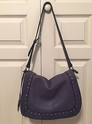 NWT INNUE Made In Italy Blue Leather Shoulder Bag