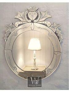 Venice Silver Venetian Round Vintage Wall Mirror 28