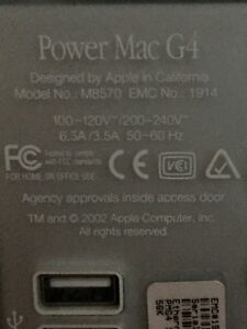 $100 for both PowerMac G4 and powermac g5