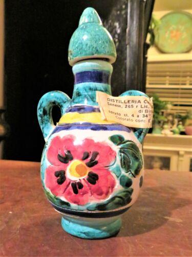 "Vintage Ceramic Liquor (EMPTY) Decanter Bottle Firenze Florence Italy 4.5"""